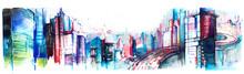"Постер, картина, фотообои ""panorama of city"""