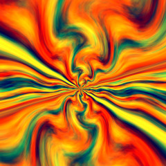 Abstract Colorful Energetic Bang Background - Infinite Fractal