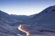 canvas print picture - Lichtspuren im Gebirge