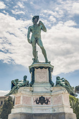 David at Piazzale Michelangelo in Florence, Italy