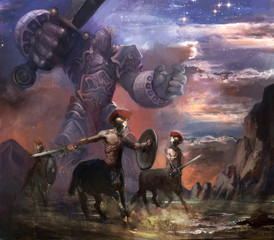 centaurs and titan