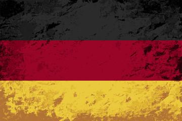 Germany flag. Grunge background. Vector illustration