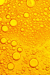 Oil and Water - Abstract Background Yellow Macro