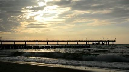 Seebrücke an der deutschen Ostsee
