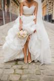 Bride on the old streets of Lviv, Ukraine - 78398542