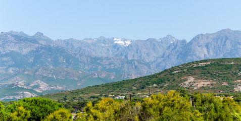 Snow in the mountains of Corsica