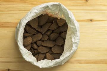 Brazil nuts in bag