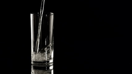 HD - Glass of water. Slow-mo