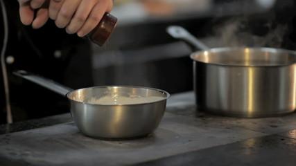 Adding Flour To The Sauce