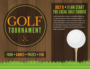 Golf Tournament Flyer Illustration
