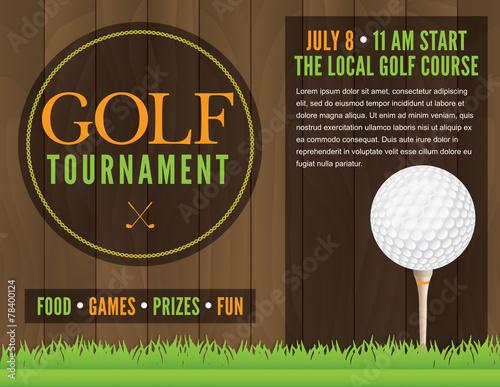 Golf Tournament Flyer Illustration - 78400124