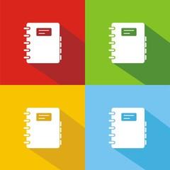 Icono agenda colores sombra