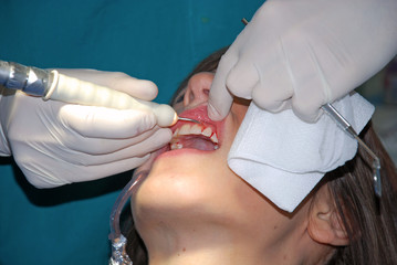 Dental Care - A girl at the dentist