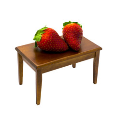 Two giant strawberries