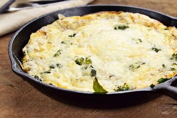 Broccoli, Mushroom and Spinach Frittata
