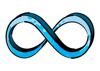 Infinity symbol created in graffiti style
