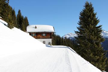 Ski Winterlandschaft Saalbach-Hinterglemm