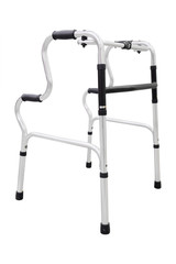 Adjustable folding walker for elderly, disabled