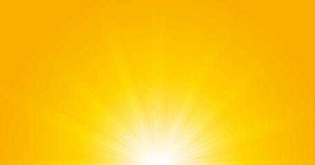 Bright sunbeams, shiny summer background