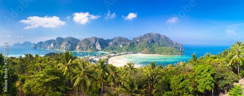 Lush tropical island: Phi-Phi Don, Thailand. - 78402138