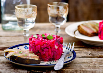 vinegret ,traditional Russian and the Ukrainian  salad