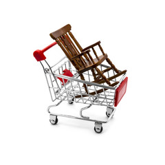 Rocking chair in a shopping cart