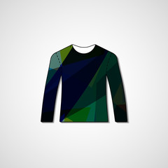 Abstract illustration on sweater