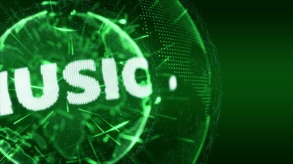 World News Music Internet Intro Teaser green