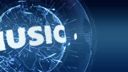 World News Music Internet Intro Teaser blue