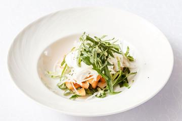 fresh salad with arugula