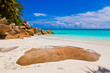 canvas print picture - Beach Georgette at island Praslin - Seychelles