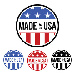 Made in the USA Sticker - Transparent