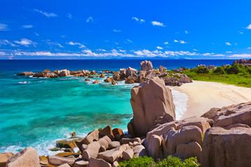 Tropical beach at Seychelles