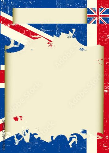 Fototapeta UK scratched poster