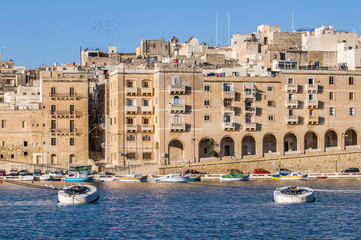 Senglea as seen from Birgu, Malta