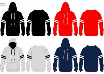 hoodie winter black and red