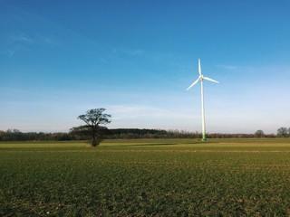 Windrad auf Feld