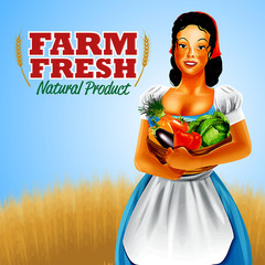 farm fresh woman