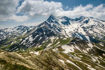 Alpina road-Grossglockner Hohalpenstrasse Austria.