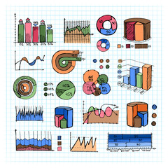 Colored Graphs  Charts and Diagrams on Grid Lines