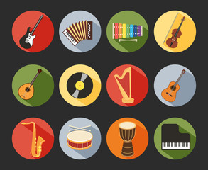 Flat Musical Icons