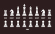 Complete set of chess pieces - 78404304