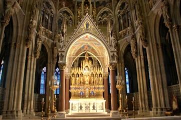 Vienna inside Votivkirche (altar)