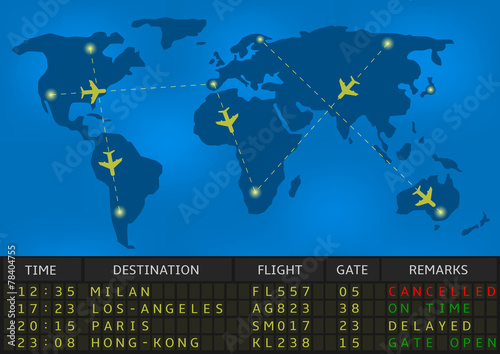 airport departure board - 78404755