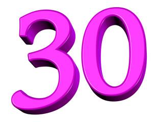 pembe renkli 30 sayısı