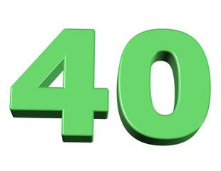 yeşil renkli 40 sayısı