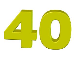 sarı renkli 40 sayısı