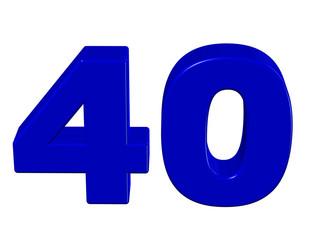 mavi renkli 40 sayısı