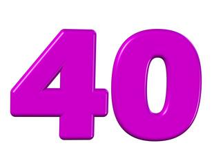 pembe renkli 40 sayısı