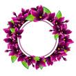 Lilac Flower Round Frame